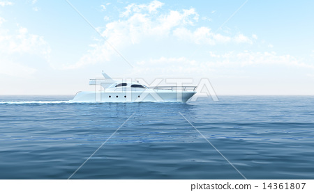 White yacht floating in the sea 14361807
