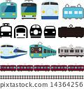 矢量 火車 電氣列車 14364256