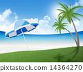 beach, palm, trees 14364270