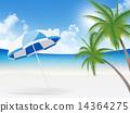 parasol, parasols, beach 14364275