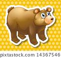 drawing, cartoon, bear 14367546