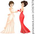 Woman in dress 14367879