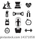 Fitness Icon Set 14371058