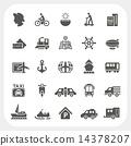 Transportation icons set 14378207