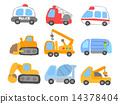 crane truck, car, ambulance 14378404