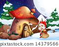 圣诞老人 圣诞老公公 蘑菇 14379566