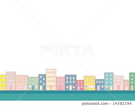 도시 빌딩 거리 14382194