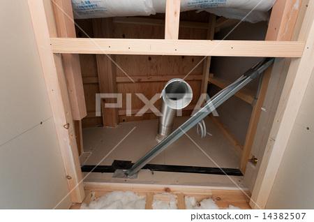 주택 건설 공사 화장실 배기 덕트 관 14382507