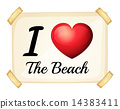 A poster showing the love of the beach 14383411