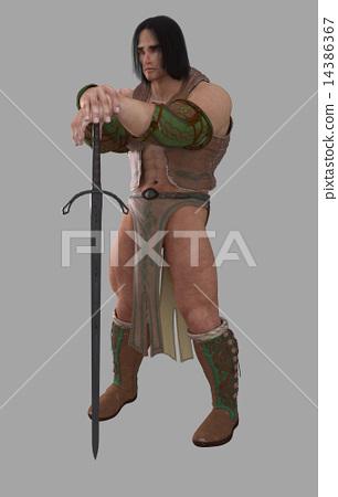Fantasy Barbarian Warrior 14386367