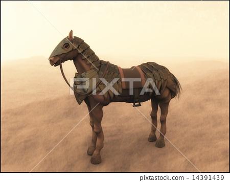 Black war horse 14391439