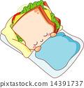 귀여운 샌드위치 14391737