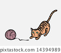 Cat playing knit 14394989