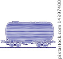 Petroleum cistern wagon freight railroad train 14397400
