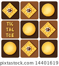 Tic-Tac-Toe of macaron and waffle 14401619