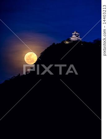 Full Moon and Gifu Castle 14403213