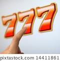 槽 老虎机 玩耍 14411861