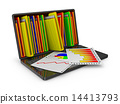 document, folders, laptop 14413793