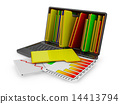 document, folders, laptop 14413794