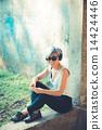 headphones, woman, beautiful 14424446