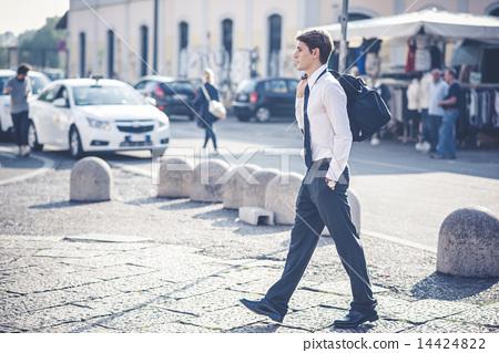 young handsome elegant blonde model man 14424822