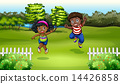 Black kids near the trees 14426858