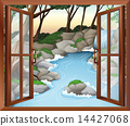 A window near the waterfalls 14427068