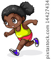 A black girl running 14427434
