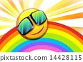 sun, rainbow, illustration 14428115