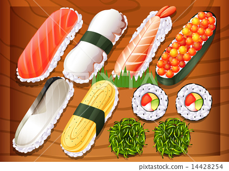 Different flavors of sushi 14428254