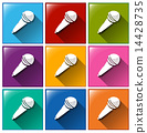 icons, colourful, microphone 14428735