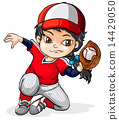 A female Asian baseball player 14429050