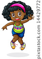 A young Black girl dancing 14429772