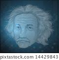 Human face of an old man 14429843