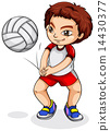 An Asian volleyball player 14430377