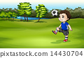 soccer playing player 14430704