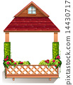 A porch with flowering plants 14430717