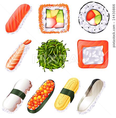 Set of sushi 14430866