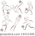 A group of soccer players 14431485