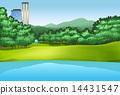 trees park pond 14431547