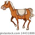 A cowboy's horse 14431886