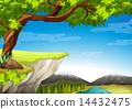山峰 草 自然 14432475