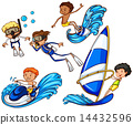 Kids enjoying the different watersports 14432596
