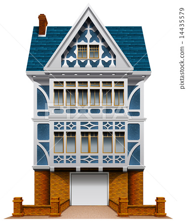 A big house with a garage 14435579