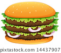 hamburger, sesame, seeds 14437907