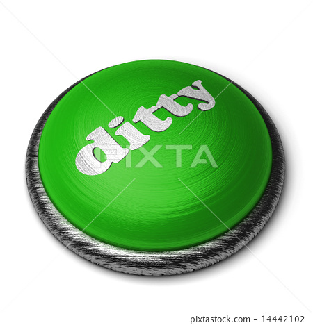 ditty word on green button isolated on white 14442102