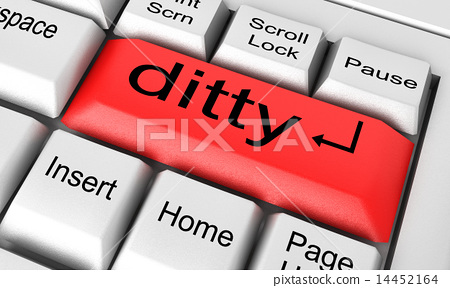 ditty word on white keyboard 14452164