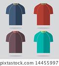 t-shirt,set,flat 14455997