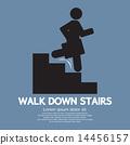 symbol stairs down 14456157