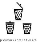 trash bin 14456376